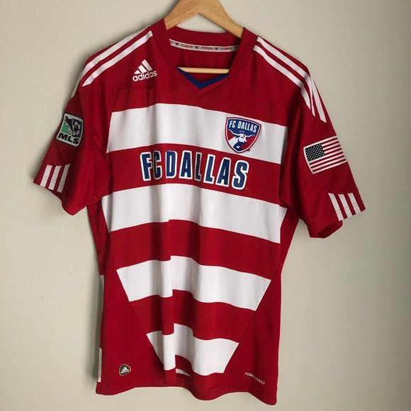adidas Shirts | Fc Dallas Adidas Mls Soccer Jersey Large 20 | Poshmark